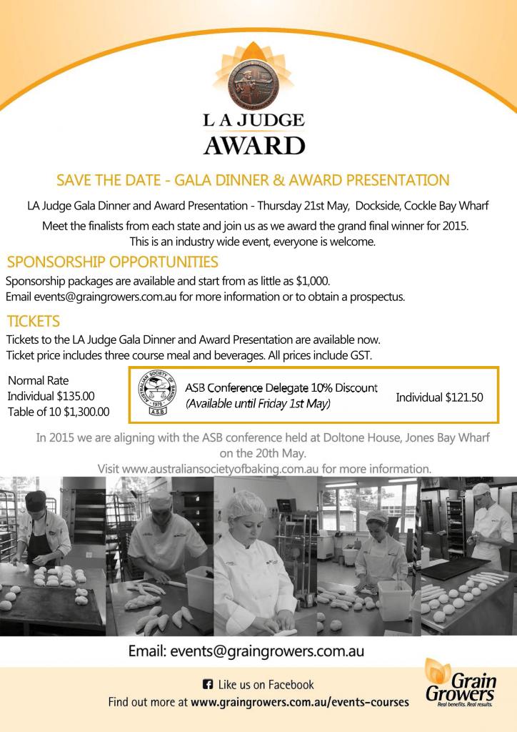 ASB Conference May 2015 and LA Judge Award dinner 2-5